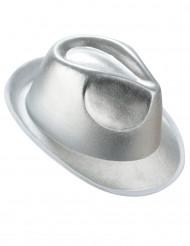 Silverfärgad borsalino