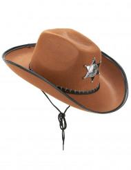 Cowboyhatt sheriff brun