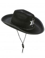 Cowboyhatt sheriff svart