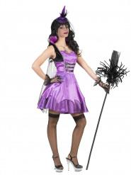 Barock vampyr i lila - Halloweendräkt för vuxna
