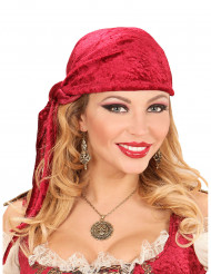 Halsband med piratmedaljong