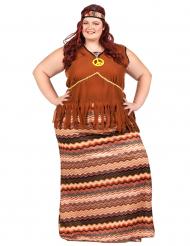Brun hippie - utklädnad vuxen