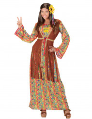 Lång hippieklänning med fransar - Maskeraddräkt för vuxna