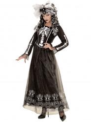Maskeraddräkt skelett med underkjol
