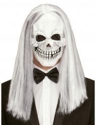 Skelett med hår - Halloweenmask för vuxna