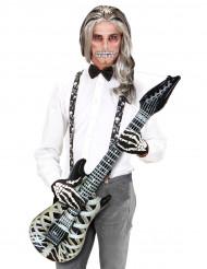 Skelettrock - Uppblåsbar gitarr till Halloween
