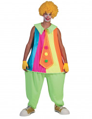 Neon clown - utklädnad vuxen
