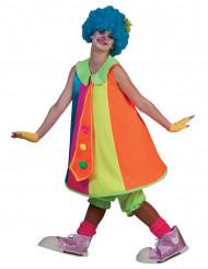 Maskeraddräkt neonfärgad clownklänning vuxen