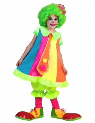 Neon clowndräkt barn