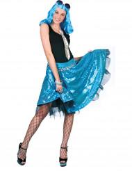 Blå discokjol med sekiner dam