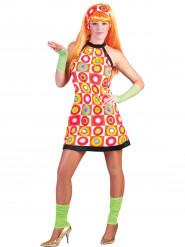 Maskeradkläder för vuxna 60-tal   70-tal Dam Orange 1b4fb42b1db81