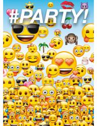 8 Emoji™ inbjudningskort med kuvert