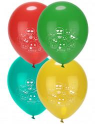 8 ballonger i latex med Emoji™ tryck