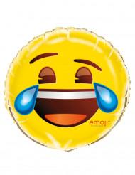 Skrattar så jag gråter - Aluminiumballong från Emoji™