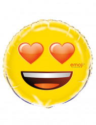 Emoji™-ballong med hjärtformade ögon
