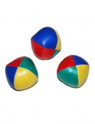 3 Färgglada jongleringsbollar 6 cm