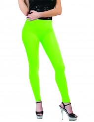 Neongröna leggings vuxen