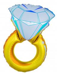 Diamantring - Aluminiumballong till festen 105cm