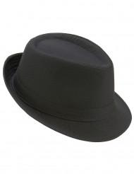 Svart lyxig borsalino hatt - halloween hattar