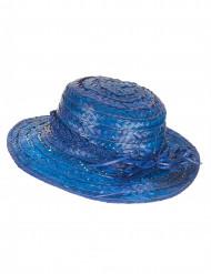 Vintage halmhatt i blått för vuxna