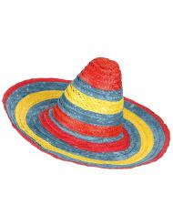 Sombrerohatt röd-grön-gul