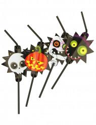 Sugrör med bild av söta monster - Halloweenpynt