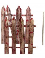 2 dekoratinsstaket täckta med blod - Halloweendekoration