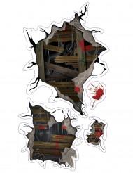 Sticker för väggen med spöken - Halloweendekoration