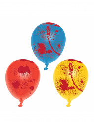6 latexballonger med blodsplatter till Halloween