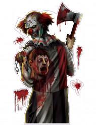 Blodig clown klistermärken Halloween
