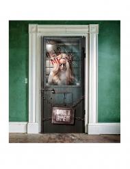 Zombie Infesterat sjukhus - Dörrdekoration till Halloween