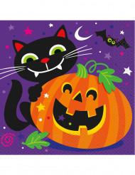 Lustig Halloweenservett - Halloweendukning