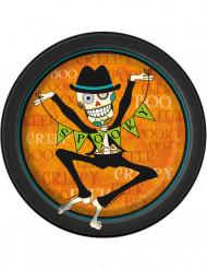 8 Spooky kartongtallrikar till Halloween 18 cm