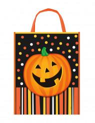 Presentpåse med pumpa till Halloween