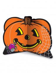 Bordsdekoration med pumpa och spindel - Halloweenpynt