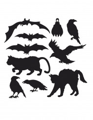 10 Halloweendjur - Väggdekoration till Halloween