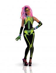 Maskeraddräkt Skelett Techno girl