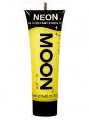 Gul ansikts- och kroppsgel från Moonglow® till UV-partyt