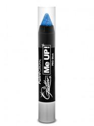 Blå UV-sminkkrita med glitter 3 g