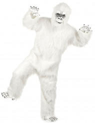 Lyxig vit Yeti utklädnad för vuxen