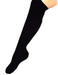 Långa svarta strumpor för vuxna - 53 cm
