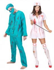 Doktor och Syster Zombie - Pardräkt