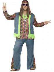 Häftig hippie-utklädnad vuxen