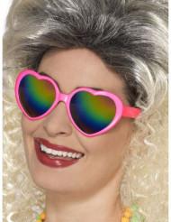 Hjärtglasögon med färgglada glas dam