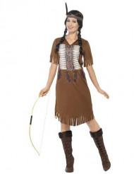 Kostym med fransar squaw dam