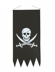 Piratflagga med vit dödskalle