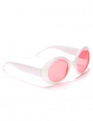 Runda vita plastglasögon för vuxna