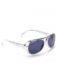 Runda silverfärgade glasögon