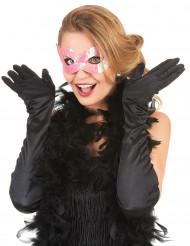 Venetiansk ögonmask med rosa paljetter