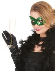 Venetiansk ögonmask med gröna paljetter för vuxna